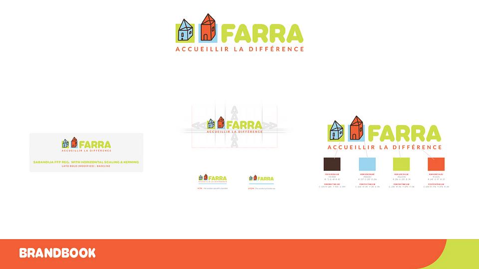 Charte graphique, logo & signalétique pour FARRA