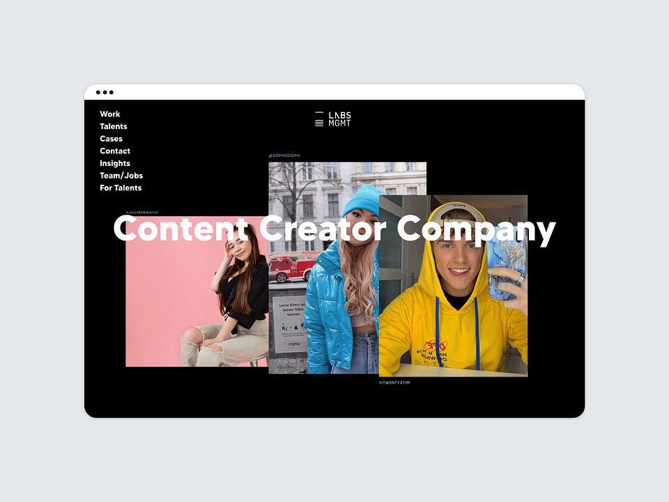 Labs Management // Webdesign