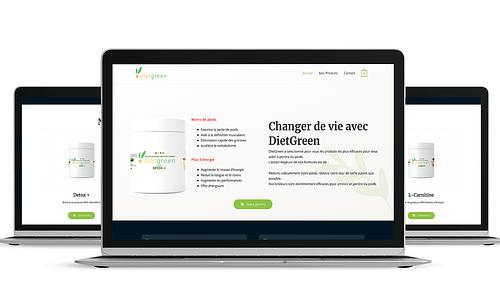 Création de site internet pour Diet Green - Création de site internet