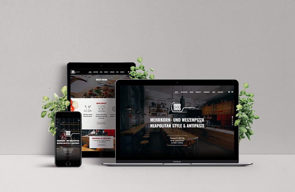 Neue WordPress-Seite für Pizzeria neoneo
