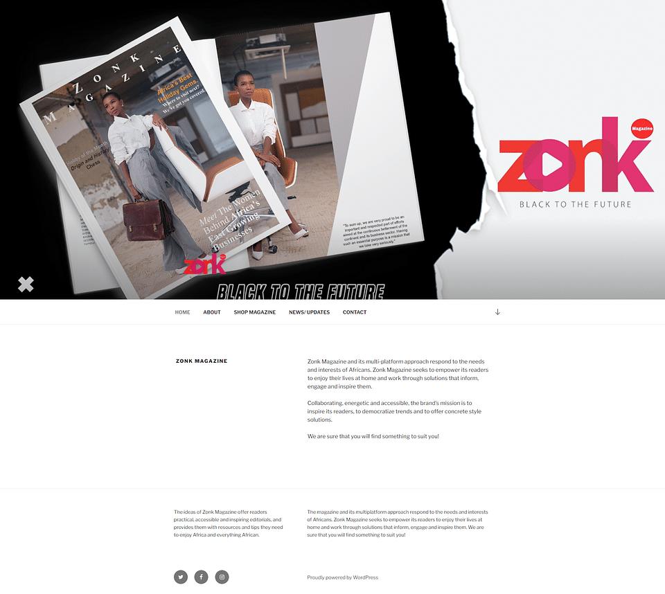 Magazine & Website Design and Content Development