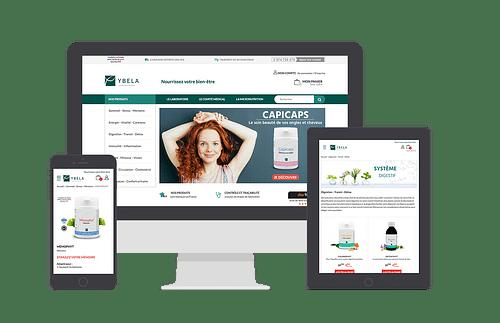 Boutique e-commerce et extranet Laboratoires Ybela - E-commerce