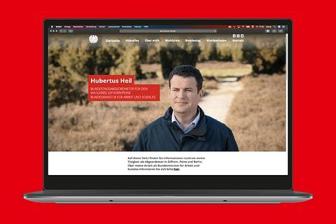 Webdesign und Umsetzung für Hubertus Heil