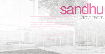 Sandhu Architect Website