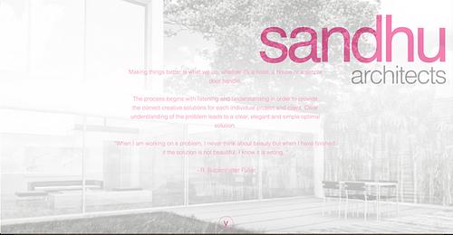 Sandhu Architect Website - Website Creation