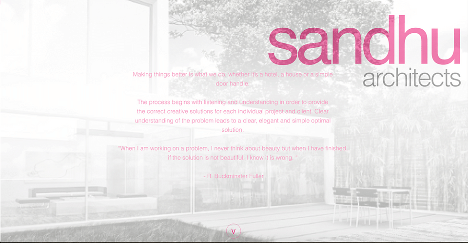 Sandhu Architect Website