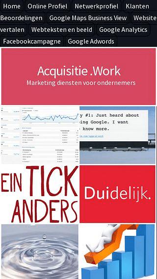 Acquisitie .Work