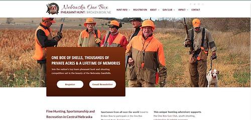 One Box Pheasant Hunt Website - Website Creation