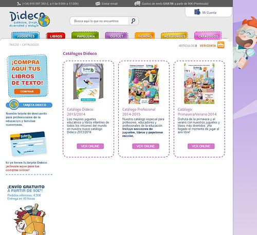 Programación web ecommerce Dideco - Creación de Sitios Web