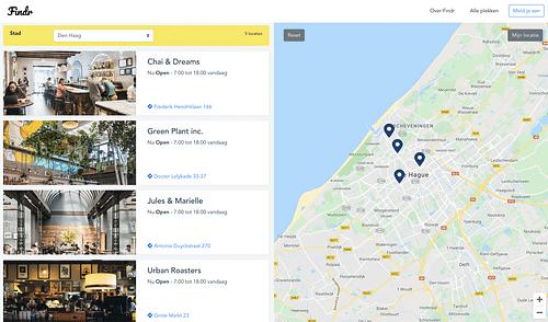 Modern store locator web application - Web Applicatie