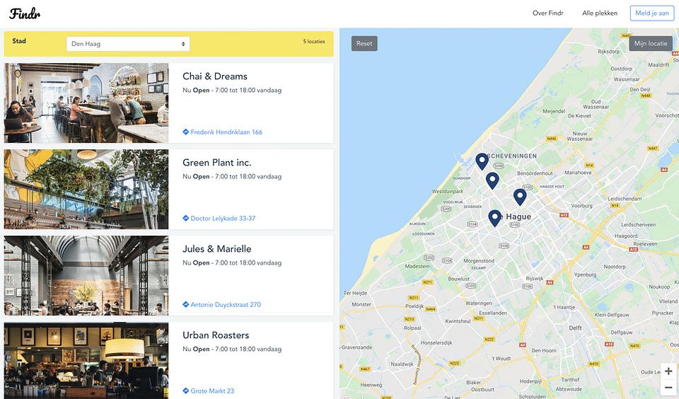 Modern store locator web application