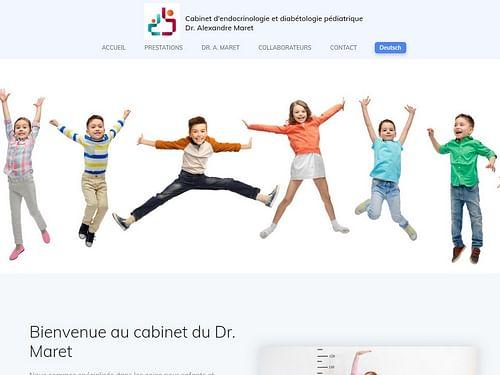 Endoped - Cabinet pédiatrique - Création de site internet