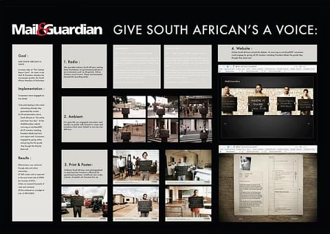 GIVE SOUTH AFRICANS A VOICE