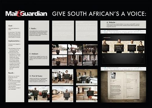 GIVE SOUTH AFRICANS A VOICE - Advertising