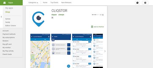 Cliqstor - Mobile App