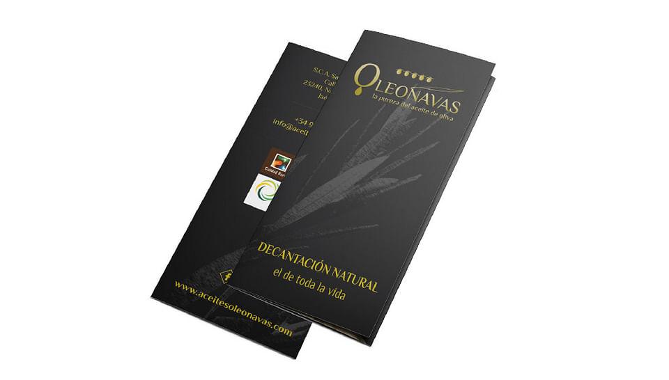 Diseño de tríptico promocional ACEITES OLEONAVAS