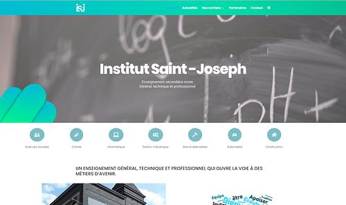 Site Internet   Institut Saint Joseph - Création de site internet