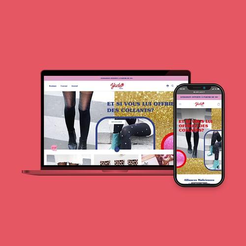 YADE - Shopify Website - Réseaux sociaux