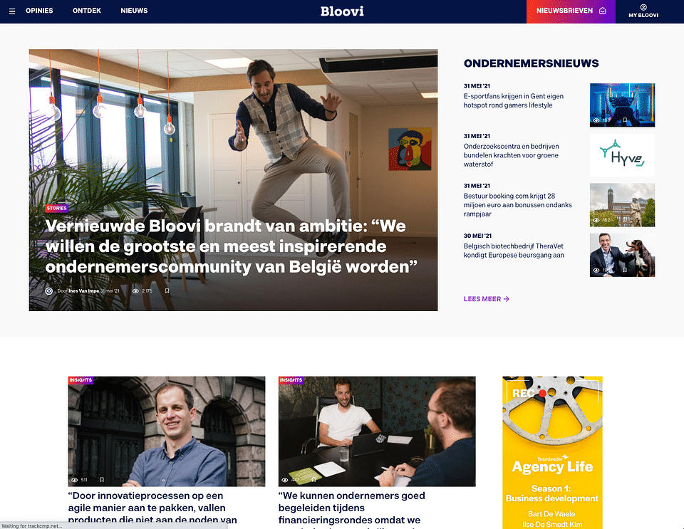 Bloovi rebranding website