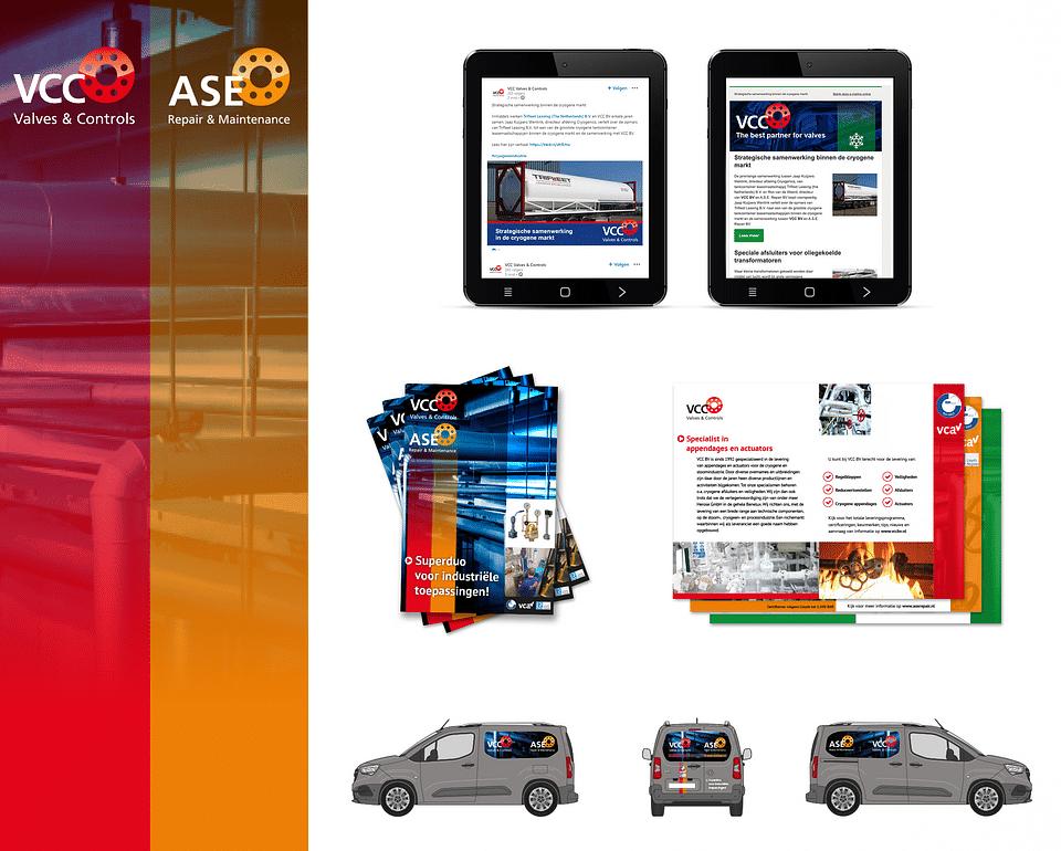 Marketingondersteuning voor VCC & A.S.E. Repair BV