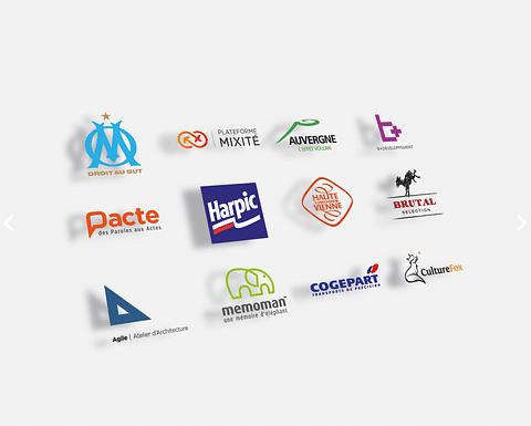 Exemples de logotypes réalisés