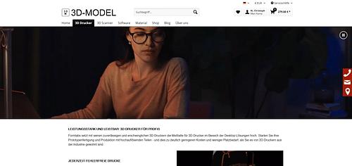 Shopware Shop 3D Model AG - Webseitengestaltung