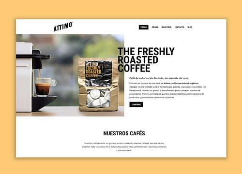 Desarrollo web / E-commerce Attimo Café - E-commerce