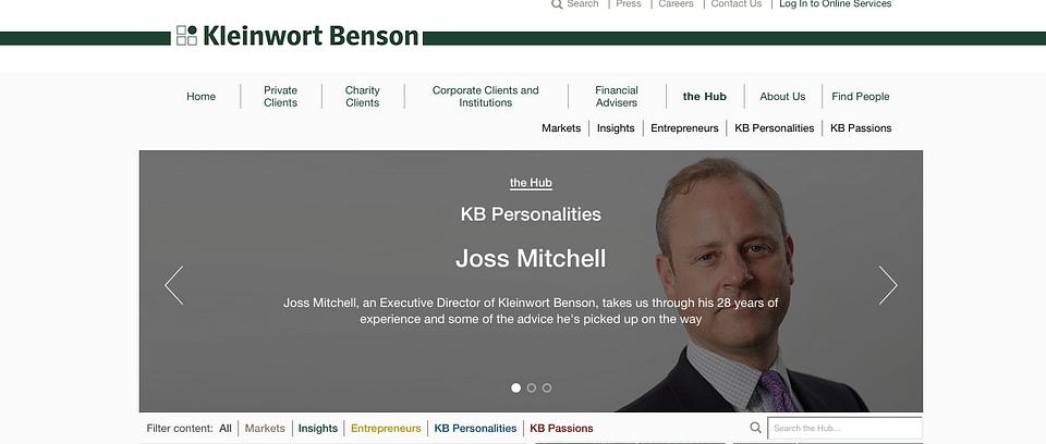Kleinwort Benson strategic project