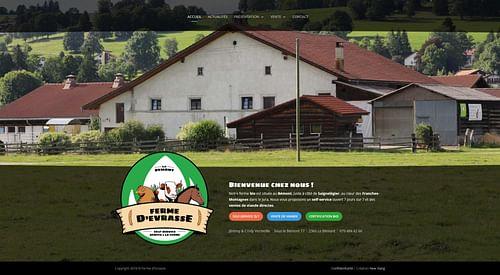 Ferme d'Evrasse - Site Internet - Création de site internet