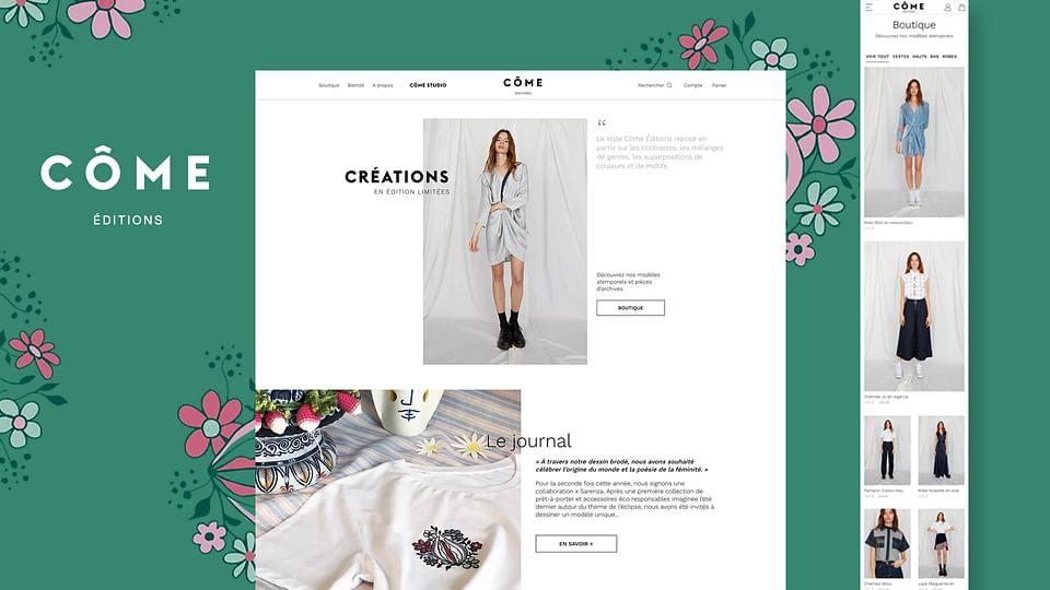 Côme Editions  site e-commerce sous Prestashop