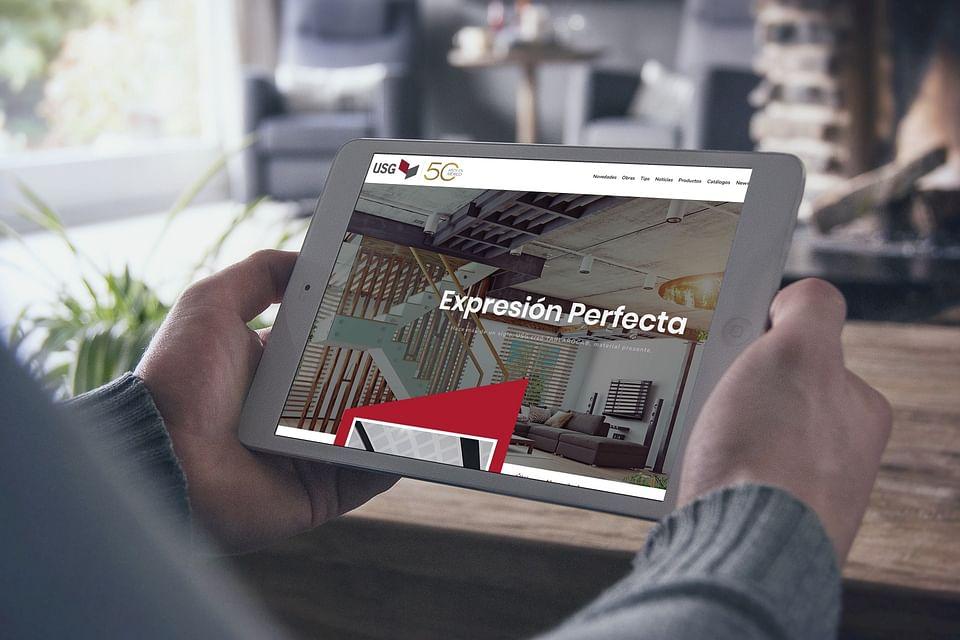 Desarrollo web responsive, USG Tablaroca