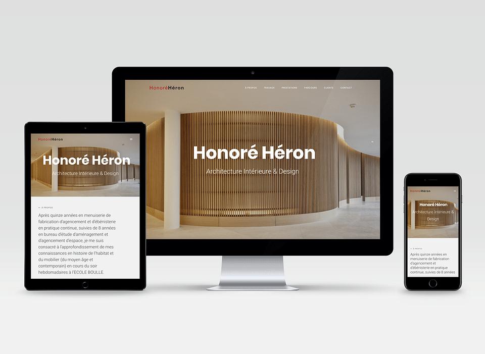 Website design et développement pour Honoré Héron.