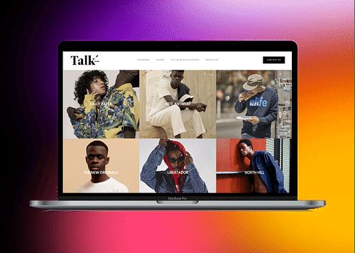 TALK STUDIO | UX/UI design & Integration - Website Creation