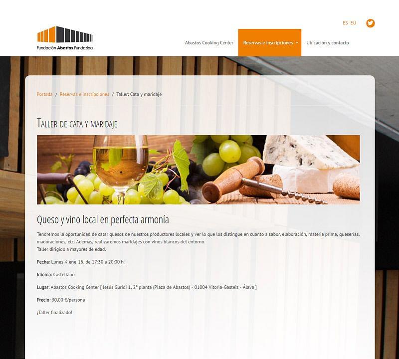 Web de Fundación Abastos Fundazioa