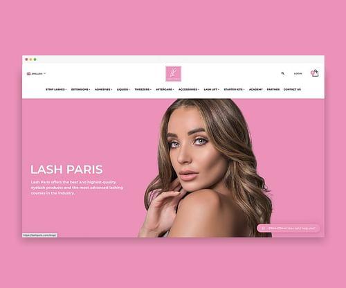 Lash Paris - Webdesign - E-commerce