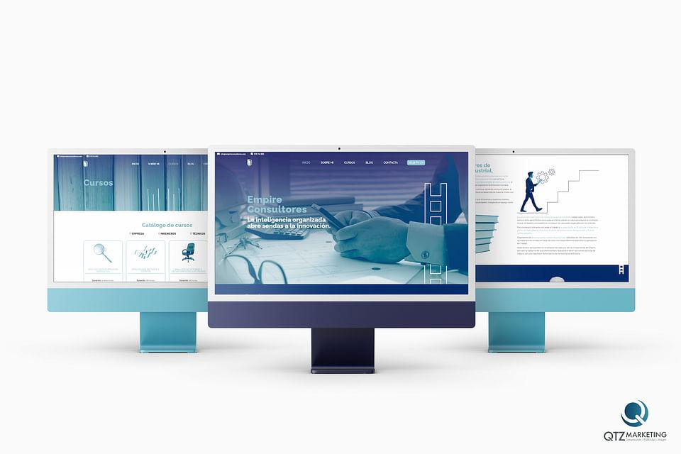 Diseño y desarrollo Web    Empire Consultores