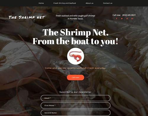 The Shrimp Net - Website Creation