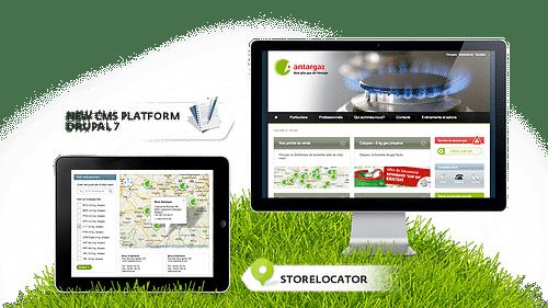 Antargaz - new website - Création de site internet