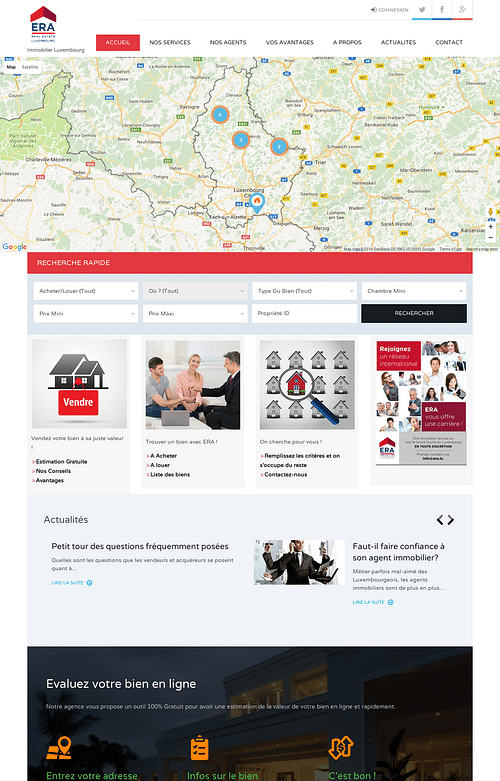 Immobilier (Real Estate Company) - Création de site internet
