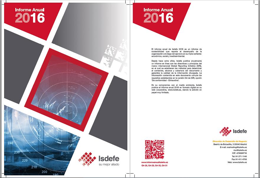 Diseño gráfico y web para ISDEFE
