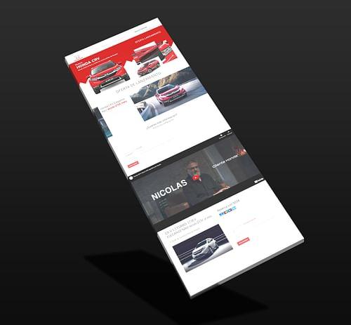 Lanzamiento CRV Hibrido - Creación de Sitios Web