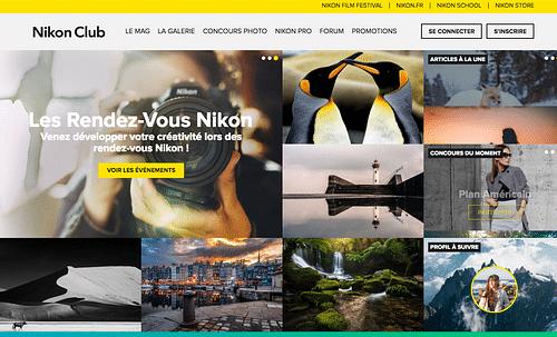 Nikon Club - CRM Platform / Community website - Création de site internet