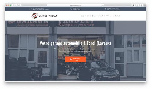 A new website for a local car service - Création de site internet