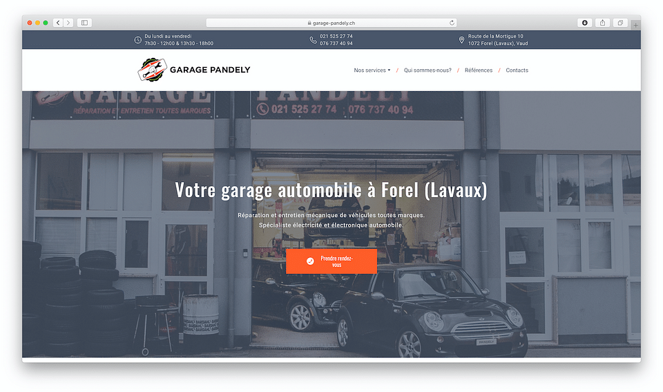 A new website for a local car service