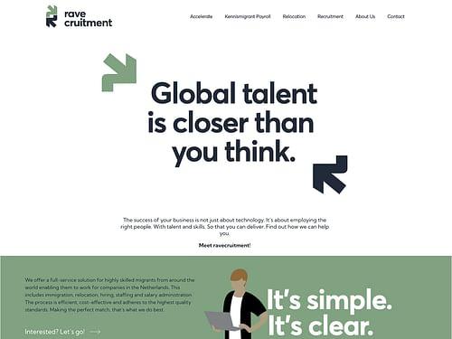 website voor een recruitment bureau - Website Creatie