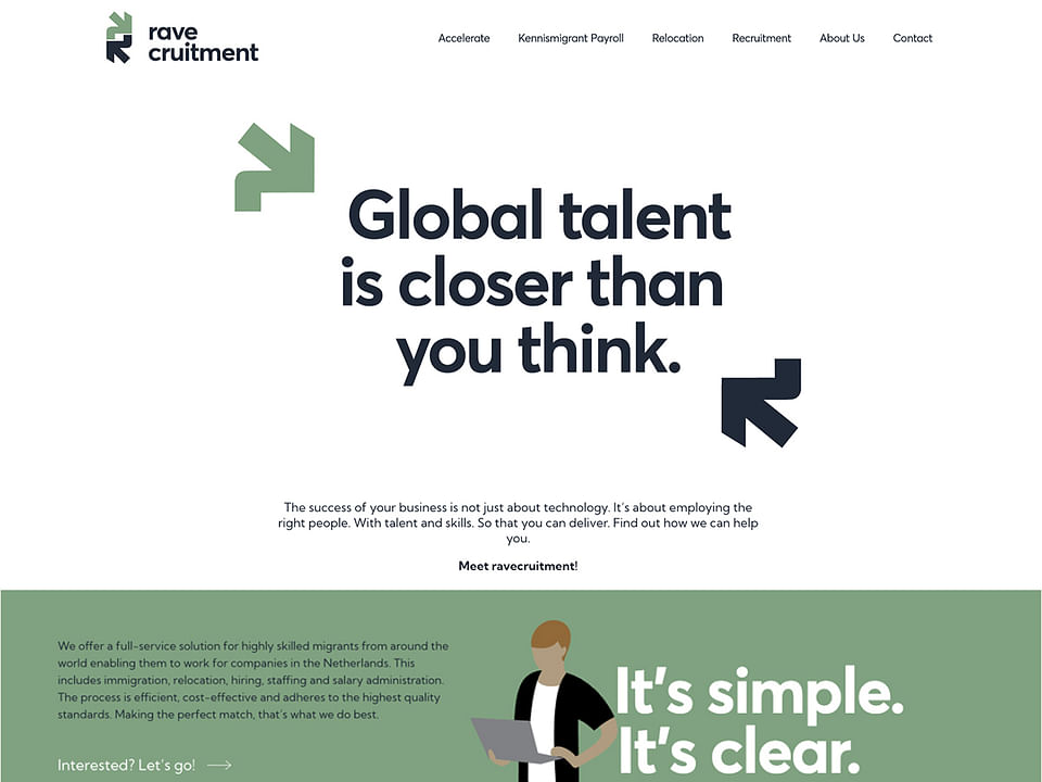 website voor een recruitment bureau