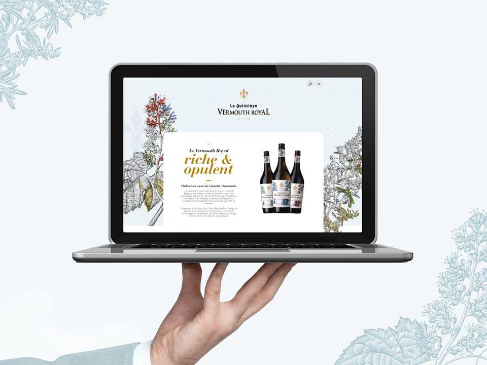 Création site web : La Quintinye Vermouth Royal