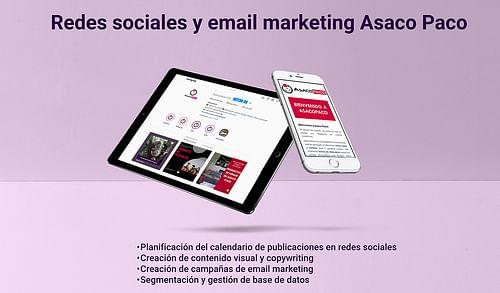 Campañas de marketing digital Asaco Paco - Estrategia digital