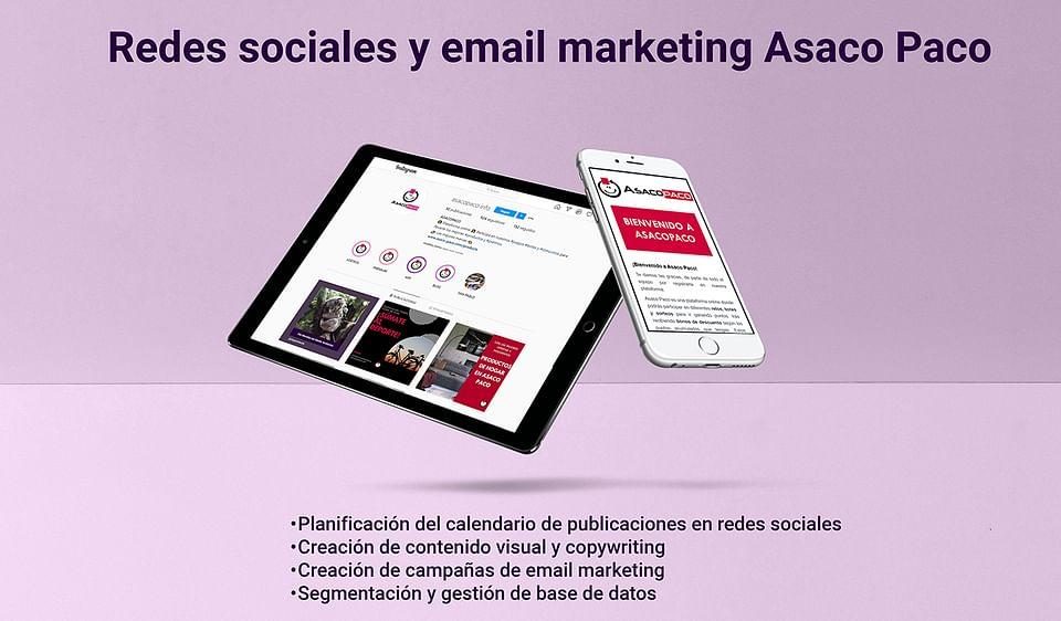 Campañas de marketing digital Asaco Paco