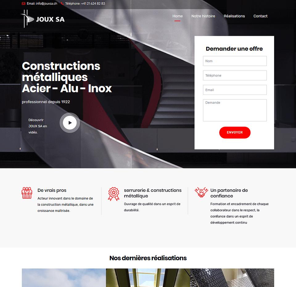 Refonte d'un site internet dans le bâtiment